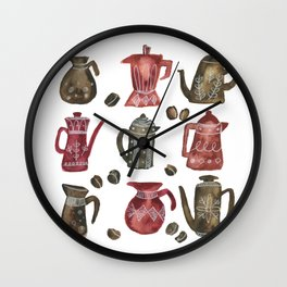 Coffee Pots Wall Clock