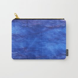 Cerulean blue abstract watercolor Carry-All Pouch