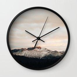 Sunset on Trail Ridge Wall Clock