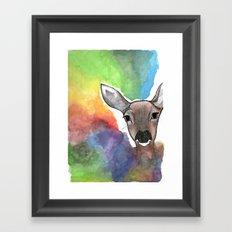 Deer Dream Framed Art Print