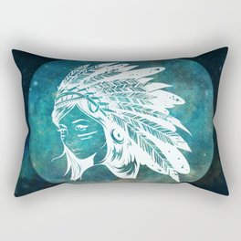 Moon Child Goddess Bohemian Girl Rectangular Pillow