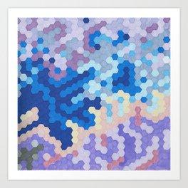 Nebula Hex Art Print