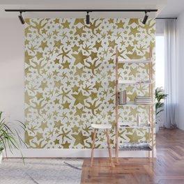 Gold Starfish Pattern Wall Mural