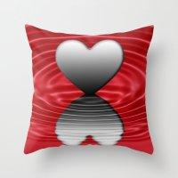 valentine Throw Pillows featuring Valentine by Kathleen Stephens