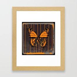 SHABBY CHIC ANTIQUE BUTTERFLY ART Framed Art Print
