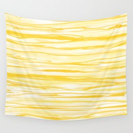 Milk and Honey Yellow Stripes Abstract Wall Tapestry