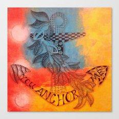 You Anchor Me zentangle anchor zendoodle doodle  Canvas Print