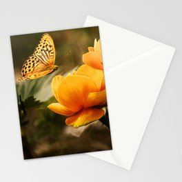 Butterfly on Flower Stationery Cards