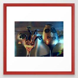 Mrs. Fork & Mr. Spoon Framed Art Print