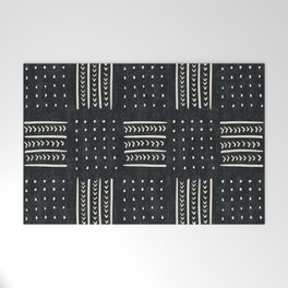 Mud cloth in black and white Welcome Mat