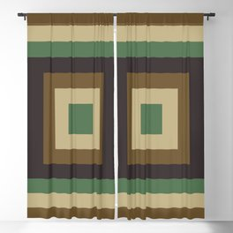Camouflage Colored Square Space Blackout Curtain
