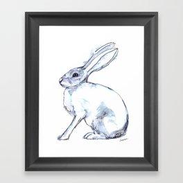 Hare on alert Framed Art Print