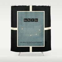 chemistry Shower Curtains featuring Chemistry of A Nation by politics