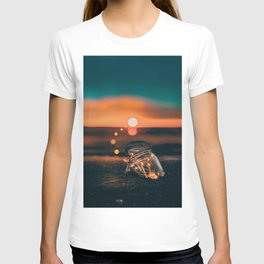 Note in a Bottle Sunset (Color) T-shirt