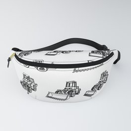 Bulldozer. Eight 3D projection vector. Fanny Pack