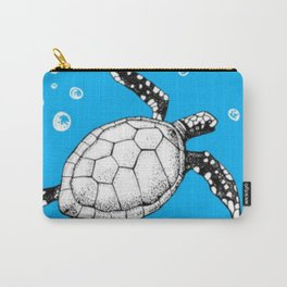 Turtles in the Big Blue- Turtle in water seamless pattern Carry-All Pouch