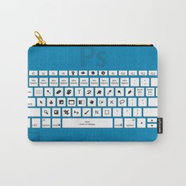 Photoshop Keyboard Shortcuts Blue Carry-All Pouch