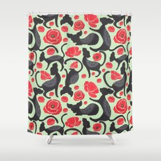The Cat Print Shower Curtain