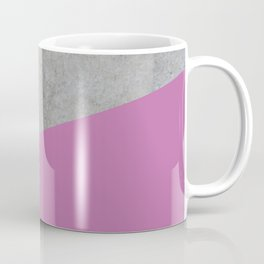 Concrete with Spring Crocus Color Coffee Mug