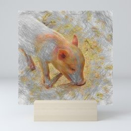 Artistic Animal Piglet Mini Art Print