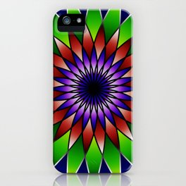 Queen of the valley mandala iPhone Case