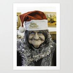 Christmas Grandma Art Print