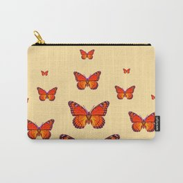 ORANGE MONARCH BUTTERFLIES CREAMY YELLOW Carry-All Pouch