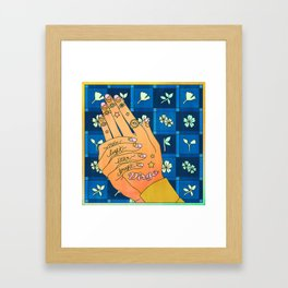 Virgo Hand Framed Art Print