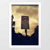 Be slow Art Print