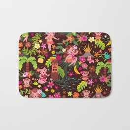 Hula Cuties Pattern Bath Mat