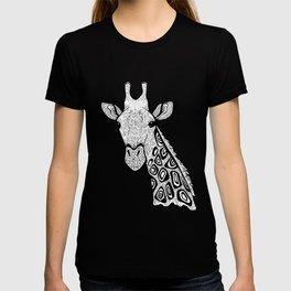 Curious Giraffe Zentangle (abstract doodle) T-shirt
