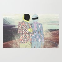daft punk Area & Throw Rugs featuring Daft Punk. by Lucas Eme A