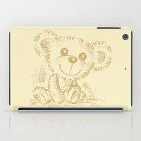 teddy bear iPad Cases featuring Teddy bear by Toru Sanogawa