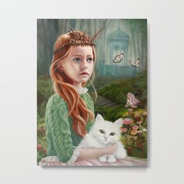 Puss 'n Princess Metal Print