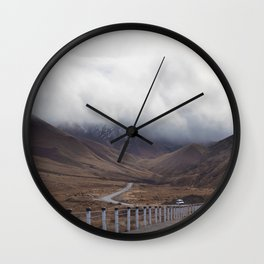 Roadtripping around New Zealand's South Island, Under a Thick Layer of Cloud Wall Clock