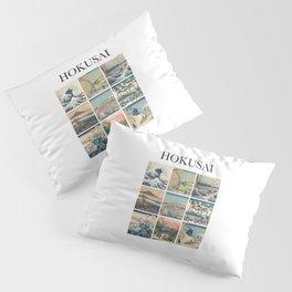 Hokusai - Collage Pillow Sham
