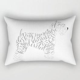 Miniature Schnauzer Wall Art Schnauzer Portrait Rectangular Pillow