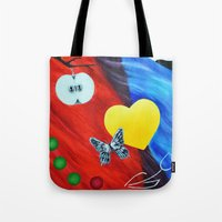 fringe Tote Bags featuring Fringe by lisa92gene