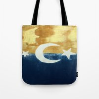 moonrise Tote Bags featuring Moonrise by Abby Snyder