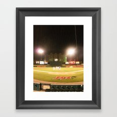 Take me out to the ball game Framed Art Print
