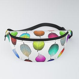 Rainbow of Autumn Leaves Fanny Pack