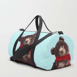Baby bear in Christmas Mood Duffle Bag