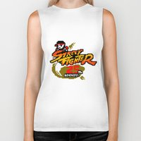 street fighter Biker Tanks featuring street fighter 25th anniversary by Hisham Al Riyami