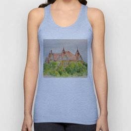 Texas State (SWT) University Old Main Building, San Marcos, TX Unisex Tank Top