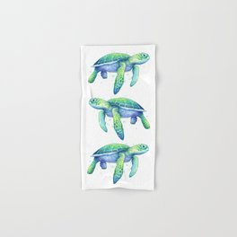 Green Sea Turtle Hand & Bath Towel