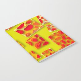 red spotted rectangles Notebook