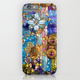 Gold, Glitter, Gems and Sparkles iPhone Case