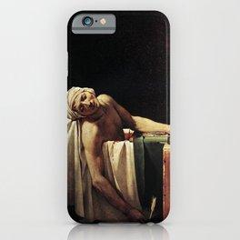 Death of Marat by - Jacques-Louis David iPhone Case