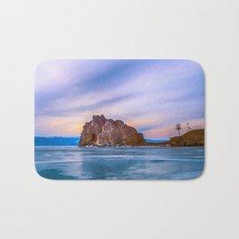 Shaman Rock, lake Baikal Bath Mat