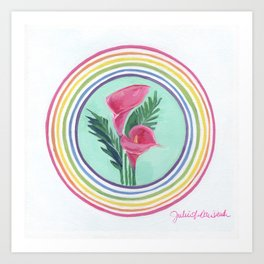 Cala Lily Blessing Art Print